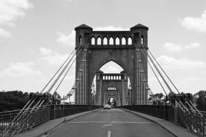 Bridge over the Loire at Langeais by UdoChristmann