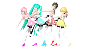 MMD: DT Lilium Sisters Luka,Miku,Meiko,Rin by AED1234PD