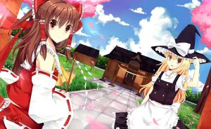 Hakurei Shrine by Angelschatedral99