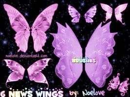 6 news wings brushes by Noelove