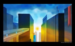 cityscape experiment by ims-corner
