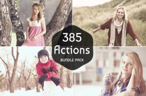 385 Photoshop Actions Bundle on Sale by symufa