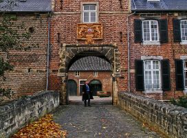 At the Wijnandsrade Castle, the Netherlands by tahirlazim