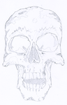 old skull by egeres