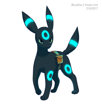 Quick Commission: Alger the Umbreon by BluuKiss