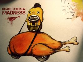 roast chicken madness by Rats-in-the-van