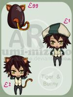 Tiger and Bunny - adoptable by Umi-Mizuno