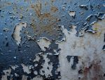 Blue Peeling Paint Stock by RavenMaddArtwork