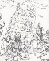 Color me for christmas-sketch by Ceshira