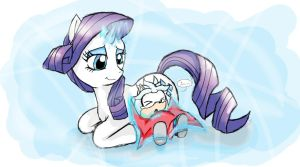 Rarity and little Silver - For Cryo Crystal by SonicMiku