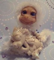 ooak snow baby by crazylittlecritters