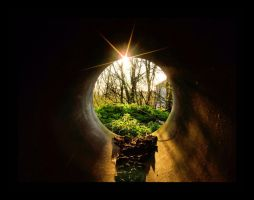 time tunnel by Kinpurney