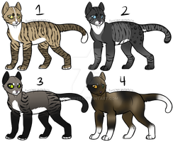 Feline Adoptables [CLOSED] by winterfeII