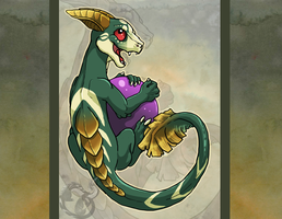 Crowned Dragon Hatchling by jeweledphoenix