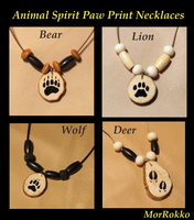 Animal Tracks Necklaces by MorRokko