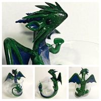 Antiqued Dragon candle holder by LittleCLUUs