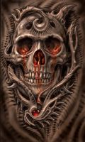Biomech Bloodskull by tat2pooch