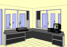 Desktop Background of security office by voidex11