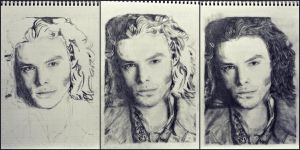 stages of a drawing: a desperate romantic by SHParsons