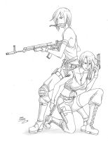 SEXY MARINE GIRLS by IDarkShadowI