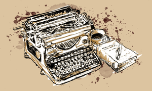 Typewriter and Coffe by IzzyMaelstrom