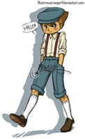 Professor Layton_Young Luke by Illustrioustranger