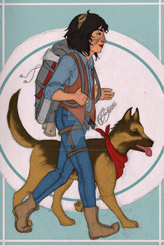 Let's Go Dogmeat by merrydisposition