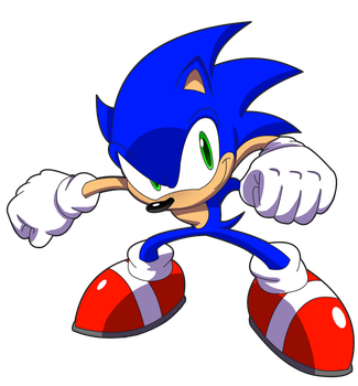 Sonic in all his blue-y-ness? by FrijolesGirl