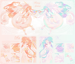 {Adoptable OPEN} Aisong Sisters Ru and Vi by ValyrianAdopts