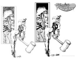 Harley Quinn Inked Process by Cadre