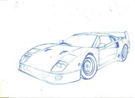 F40 sketch by driftdaniel