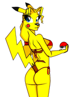 Pikachu Female (Furry Version/Censured) by Roy-Land