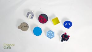 Pokemon Gym Badges: Johto Region by ChinookCrafts