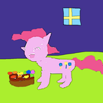 Pinkie Pie with some candy by SuperSmashCynderLum