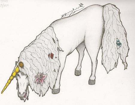 The Unicorn in the Garden by Belledaire