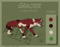 Gracier - Character Sheet by Skailla