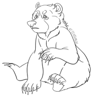 Free to Use Bear Lineart! by RussianBlues
