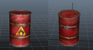 Oil Drum: my first 3d model :D by wolf117M