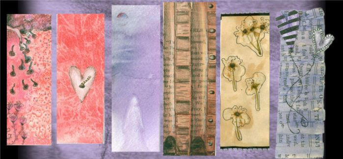 Hearts And Ghosts bookmark set by heartshapedscarz