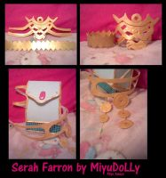 Serah Farron Armlets and Bag by MiyuDoLLy