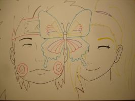 Chouji and Ino_butterfly by Disappearsinadream