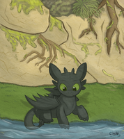 Toothless by chibitracydoodles