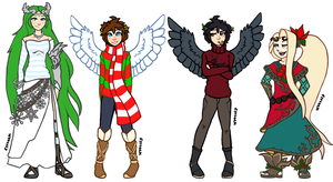 Christmas Outfits by flyteck