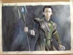 Loki Water Color by G-zal3zaa-somu