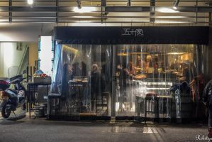beyond the curtain in Kyoto by Rikitza