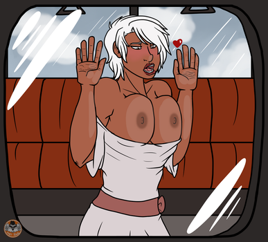 Boobs on a Train -NSFW commission- by AngryKoalaAK