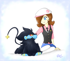 Entry: Alynn and Luxray by firehorse6