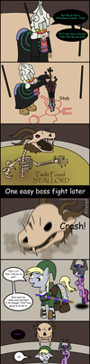Comic - Boss Fight Round 2 by Greywander87