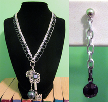 Three Chain Key Set by BloodRed-Orchid