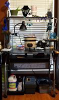 My Metalworking Desk by Aryiea